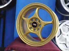 Velg brio racing R15X65 H8X100-114,3 ET40 surabaya