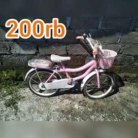 Sepeda keranjang mini anak latihan bersepeda