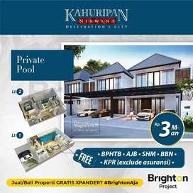 Rumah 3M'an Private Pool, Carport 3 Mobil di Kahuripan Nirwana Buduran