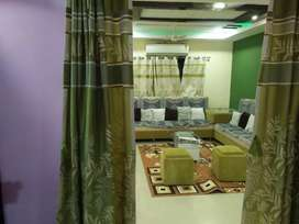 Fully furnished flat  with AC.