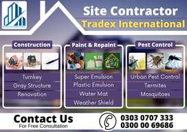 Construction/grey structure/finishing/Turnkey/labour/design/Drawings
