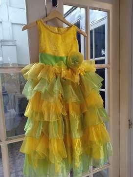 Dress party anak cewe size 8-12 thn an
