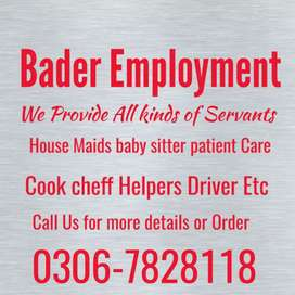 Maid,s & Babysitter available here .