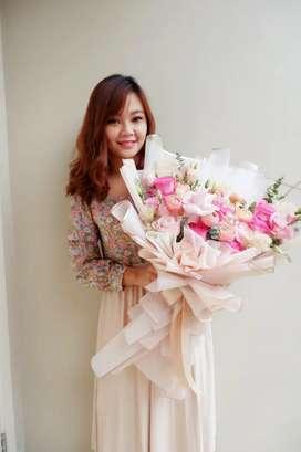 BOUQUET FLOWER FRESH BUKET BUNGA SEGAR TANGERANG JAKARTA BSD PIK