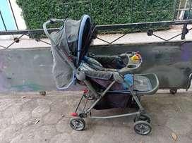 Stroller Pliko Grande Blue 3in1