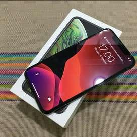 Iphone xs max 64gb silver dan gold mulus