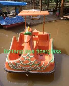 bebek sepeda air orange, sepeda air fiberglass