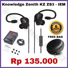 Earphone/Headset Knowledge Zenith KZ Original Garansi Toko 6 Bulan
