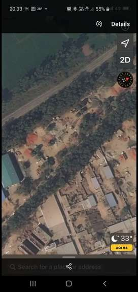 18 x 130 ,36×130 , 72x130 ,  commercial plots on main old kalka Road