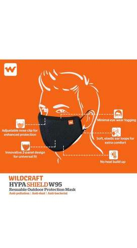 Original ( Rs.140 ) Mask Wildcraft W95 / N95 Protection Mask Reusable