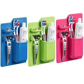 Waterproof Silicone Mighty Toothbrush Holder Storage