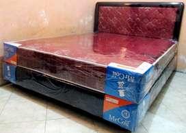 Celcius Spring Bed Set Silver 180x200 (Matras + Divan + Sandaran)