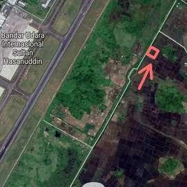Tanah Belakang Bandara Hasanuddin Maros Luas 868 Meter Cck gudang,XPDC