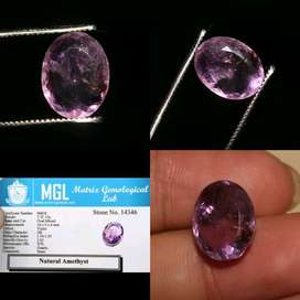 7.35 Ct. Natural! Certified Oval Mixed Amethyst Loose Gemstone
