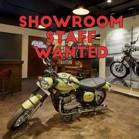 Showroom lady staff wanted..