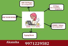 PDF To MS WORD Work at Your Home & Earn Highest Income With Typing