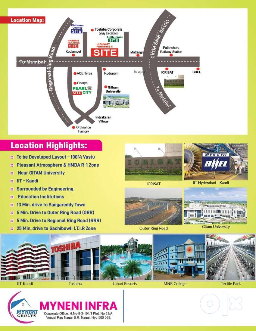 Residential Plot for sale in Highway Paradise, Isnapur, Hyderabad 0