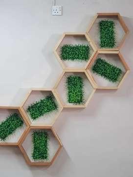 Jual hiasan dinding jati Belanda minimalis