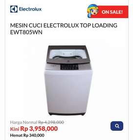 Kredit MESIN CUCI ELECTROLUX TOP LOADING EWT805WN