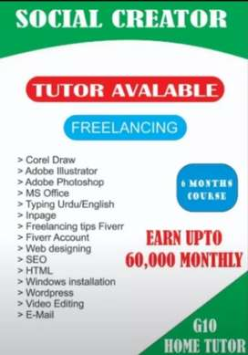 HOME TUTOR AVAILABLE GRAPHICS DESIGNER
