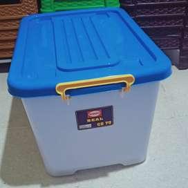 box container kontainer + roda serbaguna shinpo 70 liter
