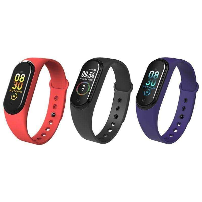 M4 Smart Band Heart Rate Blood Pressure Monitor Waterproof Pedometer H 0