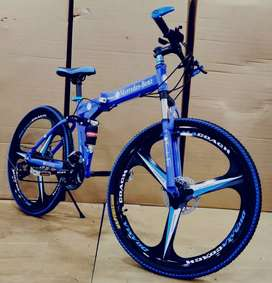 MERCEDES FOLDABLE BICYCLE WITH 21 SHIMANO GEARS TECHNOLOGY
