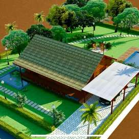 Bunglow with land, pvt  pool, mango farm & organic farm