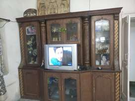 Show case wooden polished