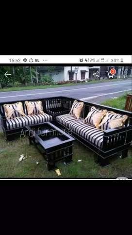 Kursi tamu jati / sudut/sofa / kwalitas ekspor