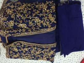Gown with  heavy shrug ( Zardozi work)