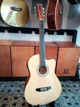 Gitar akustik elektrik original peganini
