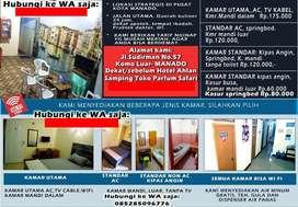 KOST HARIAN, Penginapan Murah di Pusat Kota Manado, Hotel Termurah.