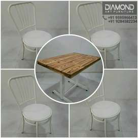 NEW 3FT CAFE HOTEL RESTAURANT TABLE CHAIR SET ANTIQUE LOOK MANUFACTURE