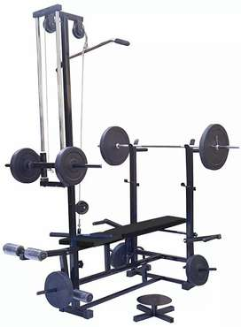 Full bench with 55 kg plate set