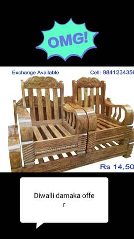 Diwali offer!!! Sofa sets at unbelievable price.