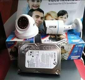 Kamera CCTV harga termurah pasang 2 Mp||