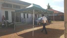 Tenda lipat ukuran 3x4,5meter bahan rangka tebal Ready stock palembang