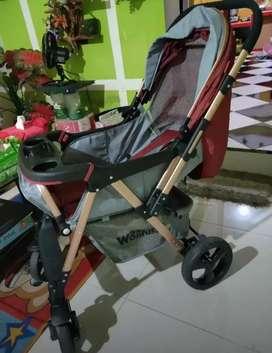 Stroller wonfus bekas kondisi istimewa