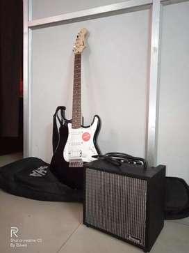 Fender Squier HSS RW electric guitar+Ibanez IBZ10GV2