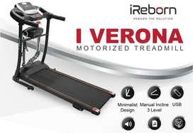 treadmill elektrik murah merk ireborn verona type terbaru bisa COD