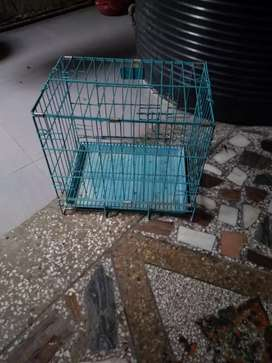 Solid dog cage