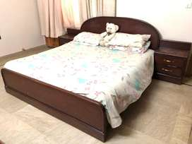 King size master bed with cupboard for sale