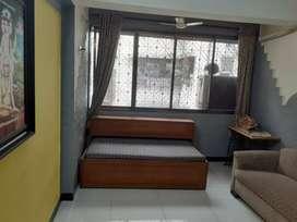 Thane Naupada 1 Room kitchen furnish AC flat 340qft in 15000rs RENT