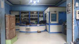 Front shop well furnished well flooring and in wholesale shoe market