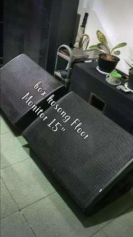 Bok kosong Floor monitor 15inc, hanya boknya saja