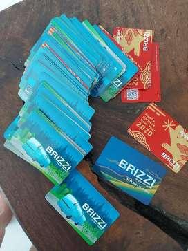 Kartu Brizzi Borongan 77pcs Bekas Usaha BriLink Tutup