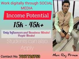 Work Digitally through SOCIAL MEDIA.