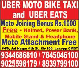 Uber eats and Uber Moto - Wanted Bike Taxi Riders