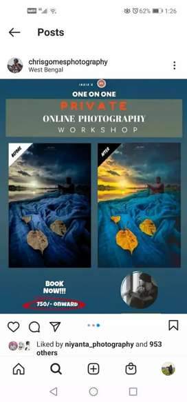 Private Online Photography Workshop